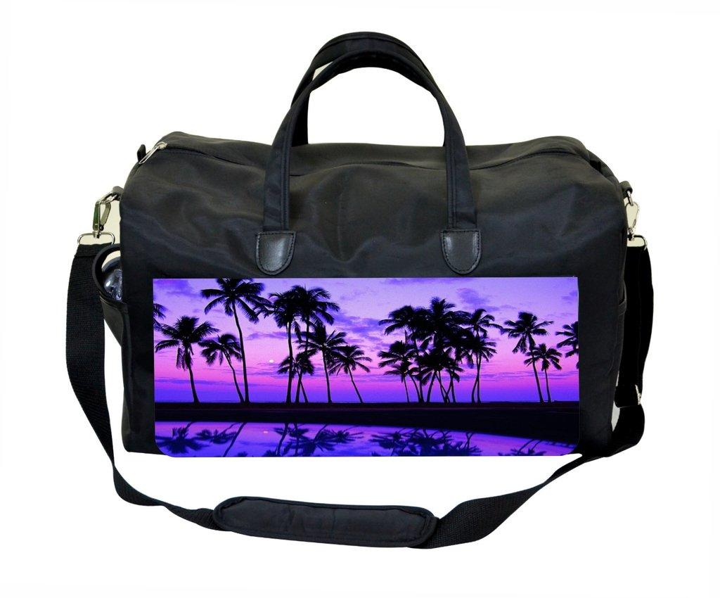 Purple Palm Tree Sunset Weekender//Overnighter Bag