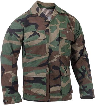 ROTHCO Camisa Militar Ripstop BDU para Hombre, Hombre, 613902594418, Camuflaje, Small: Amazon.es: Deportes y aire libre