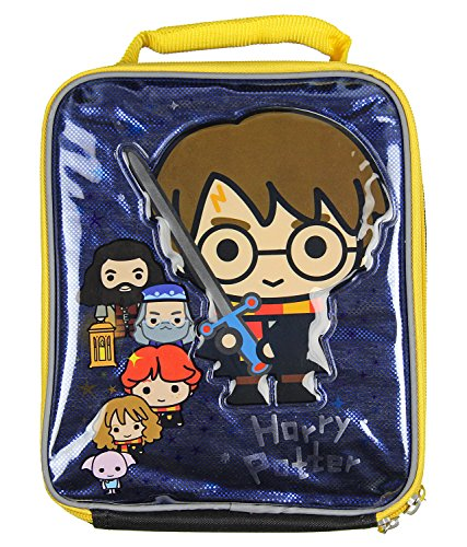 Harry Potter Lunch Box Soft Kit Insulated Bag Chibi Hogwarts