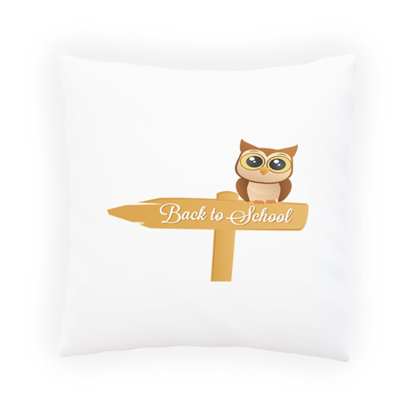 Back To School Owl Decorative Pillow , Cushion cover with Insert or Without o890p