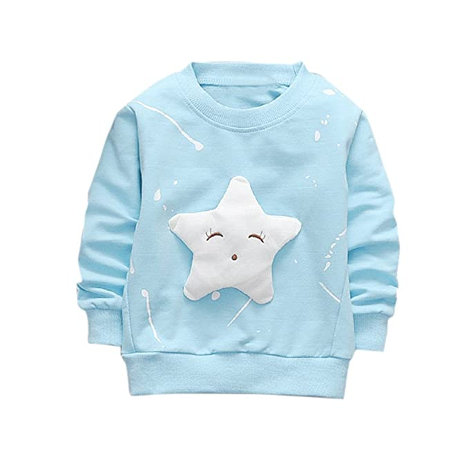 K-youth Sudadera para Niñas Ropa Bebé Niña Tops Niños Pentagrama Camiseta de Manga Larga