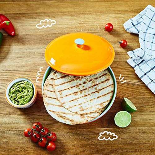 Uno Casa Ceramic Tortilla Warmer - Holds up to 15 Pcs - Measures at 8.5 Inch by Uno Casa (Image #5)