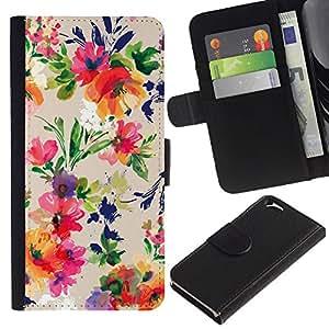 EJOY---La carpeta del tirón la caja de cuero de alta calidad de la PU Caso protector / Apple Iphone 6 / --Colores vibrantes Tela