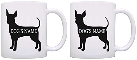 Custom Chihuahua Gifts Add Dog\u0027s Name Dog Owner Personalized 2 Pack Gift Coffee Mugs Tea Cups  sc 1 st  Amazon.com & Amazon.com: Custom Chihuahua Gifts Add Dog\u0027s Name Dog Owner ...
