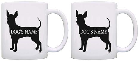 Custom Chihuahua Gifts Add Dogu0027s Name Dog Owner Personalized 2 Pack Gift Coffee Mugs Tea Cups  sc 1 st  Amazon.com & Amazon.com: Custom Chihuahua Gifts Add Dogu0027s Name Dog Owner ...