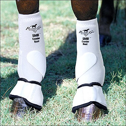 Professionals Choice Equine Smb Combo Front Boot, Pair (Medium, White) by Professional's Choice
