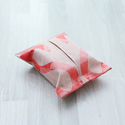 Moderna Cubierta de Tejido Minimalista de Dibujos Animados Bolsa de Pañuelos Caja de Pañuelos de Papel