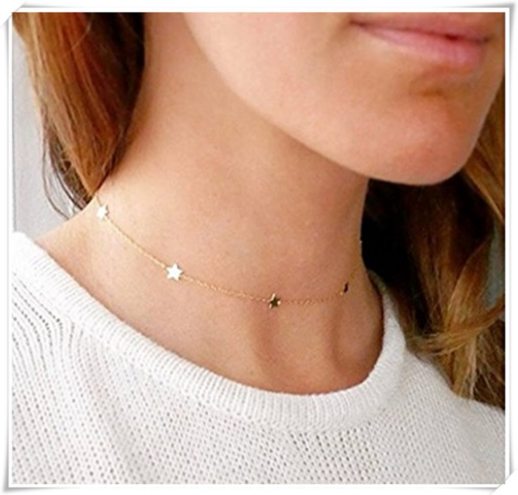 fcf4b45bb88f2f Amazon.com: One Life,one jewerly Gold Star Choker , Gold Choker Necklace:  Home Improvement