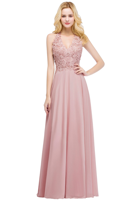 6cf55ba2cb394 ... Lace Chiffon Halter Bridesmaid Cocktail Evening Dress Long Pink US8. ;  
