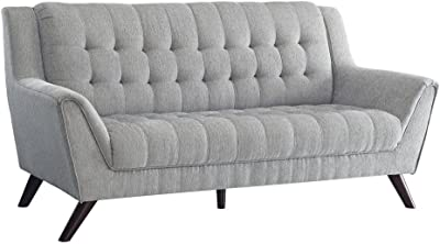 Coaster 511031 Mid Century Modern Sofa, Dove Grey