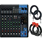 Yamaha MG10XU 10 Input Stereo Mixer (with Compression, Effects, and USB) w/ Cables