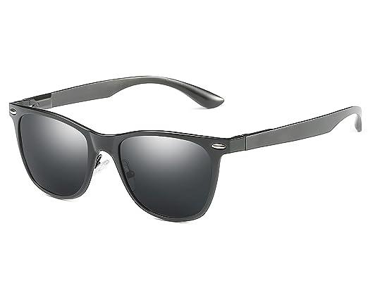 Bmeigo Herren Sonnenbrillen Polarisiert Klassisch Vintage Brillen fahren Unisex Schwarzer Rahmen gläser Super Licht ePpUTDgF
