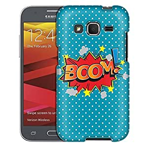 Samsung Galaxy Core Prime Case, Slim Fit Snap On Cover by Trek BOOM! Comic Book on Blue Case