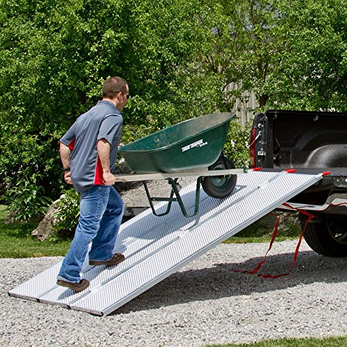 94x54 Solid Surface Tri-Fold ATV Pickup Truck Ramp by Black Widow (Image #2)
