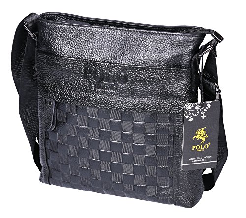 VIDENG POLO PS33 Top Grain Genuine Cow Leather Business B...