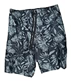 Best Op Mens Swim Suits - OP Black Hibiscus Tugger Above Knee 20.5
