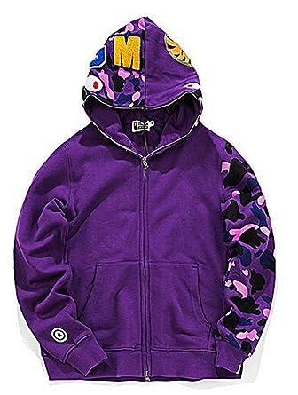 27f20e53 Amazon.com: Scarlett Mens Hoodies Ape Bape Sweatshirt Fashion Outdoor  Tracksuit Casual Hip-Hop Funny Coat: Clothing