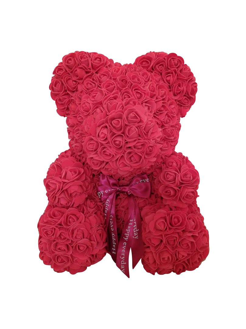 silk flower arrangements tigerlee. teddy bear rose bear artificial rose bear cub, forever rose everlasting flower for window display, anniversary christmas valentines gift by longshow