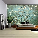 """Best Wall Murals - Wall26 - Aqua with Teal Vignette """"Almond Blossom"""" Review"""