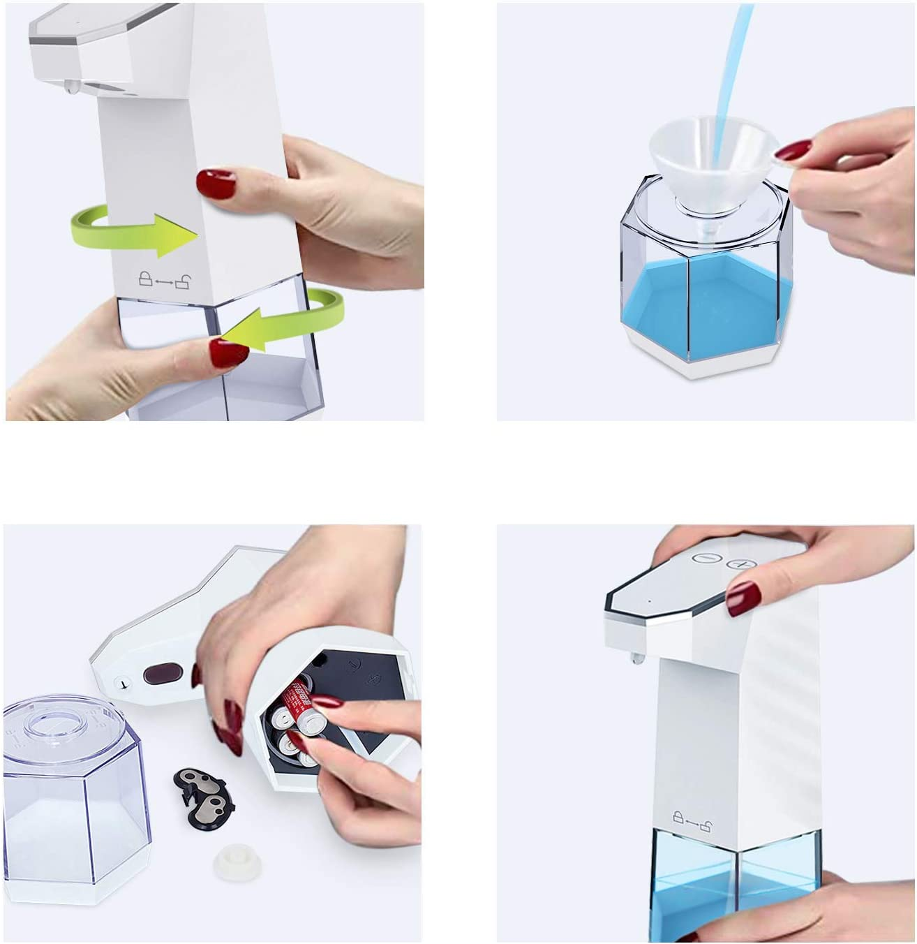 Ciaoed Automatic Foam Soap Dispenser,Touchless Infrared Motion Sensor Hands-Free Auto Anti-Leakage Waterproof Adjustable Soap Dispenser 360 ML
