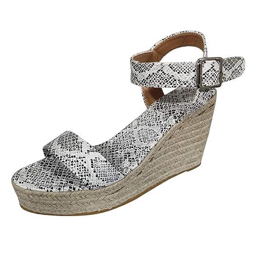 397d513dfac0d Amazon.com: Duseedik Women's Summer Wedges Sandals Fashion Ankle ...