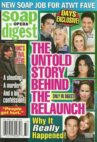 Days of Our Lives Relaunch, Drake Hogestyn, Deidre Hall, Doug Davidson, Robin Christopher, School Photos of the Daytime Stars - September 13, 2011 Soap Opera digest Magazine