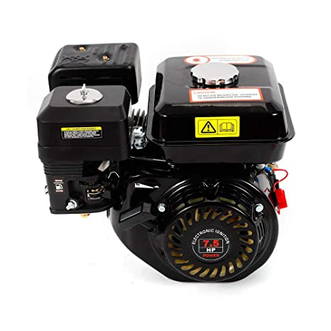 Motor de gasolina de 7,5 CV, 5,1 kW, refrigeración de aire forzado de 4 tiempos, 210 ml, desplazamiento estrecho, Negro: Amazon.es: Bricolaje y herramientas