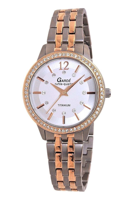 Garde (by Ruhla) Uhr Damen Titan Armbanduhr Modell Elegance 3064-1 mit Similibesatz