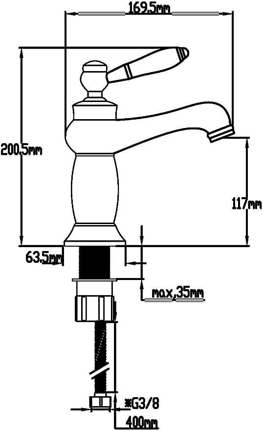 DP Grifería - Grifo monomando de lavabo en color plateado, modelo ...