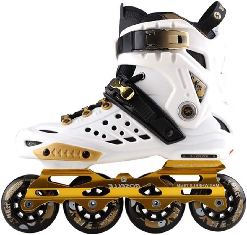 インラインスケート スケート1列スケート初心者ローラースケートプロスケート多目的ローラーシューズ最高の贈り物 (Color : 白, Size : L) 白 Large