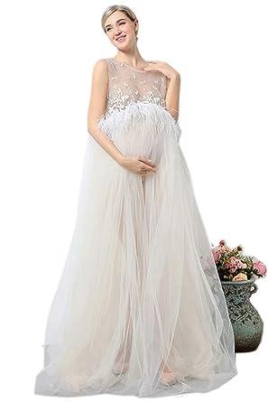 Amazon Co Jp アビコ Abico マタニティ ロング ウェディング ドレス