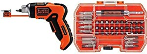BLACK+DECKER LI4000 3.6-Volt Lithium-Ion SmartSelect Screwdriver with Mag with BLACK+DECKER BDA42SD 42-Piece Standard Screwdriver Bit Set