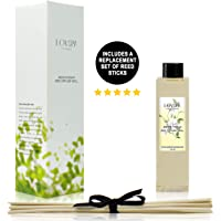 LOVSPA Jasmine Vanilla Reed Diffuser Oil Refill with Reed Sticks with Jasmine and Creamy Vanilla Scent Notes, 4 oz. Made in The USA