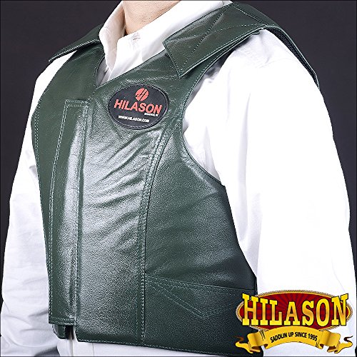 HILASON XXX LARGE BULL RIDING PRO RODEO LEATHER PROTECTIVE VEST GEAR EQUIPMENT ()