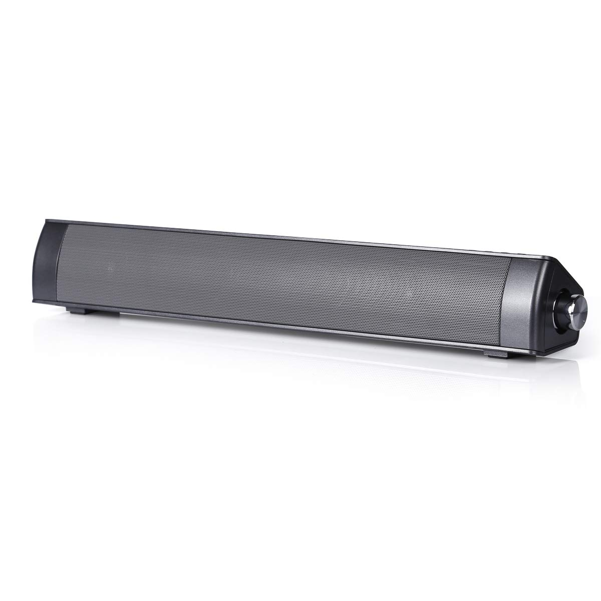VICOODA Mini Bluetooth Soundbar Speaker with Aux-in, TF-Slot, USB Port, Wired and Wireless Speaker for TV, Notebook, PC, Mobile Phone, Tablet, MP3, Compatible with iPhone, Android, iPad