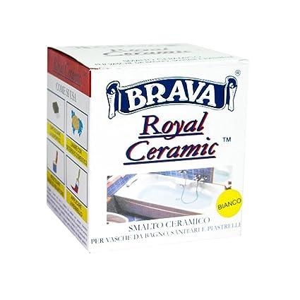 Brava smalto ceramico bicomponente bianco per vasche piastrelle ...