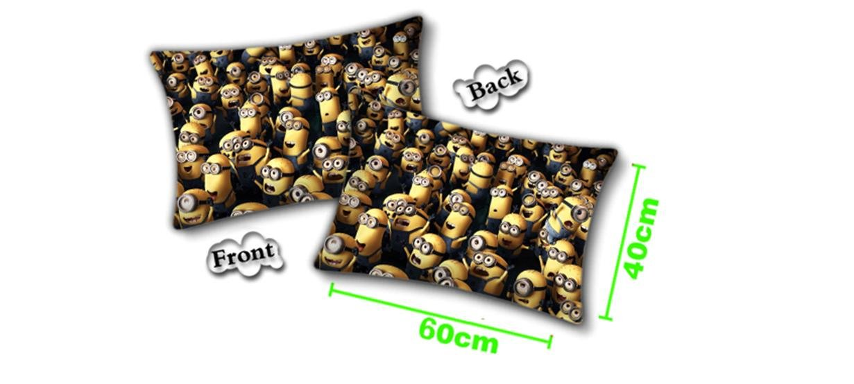 Despicable Me Minion Black Pillow 24'' x 15''