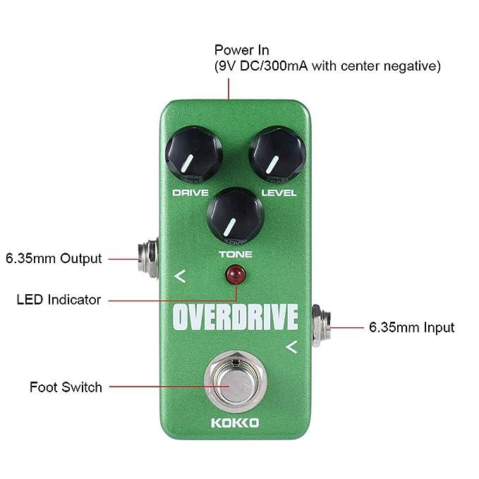 ammoon kokko fod3 Mini Overdrive Pedal portátil Guitarra Pedal de Efectos: Amazon.es: Instrumentos musicales