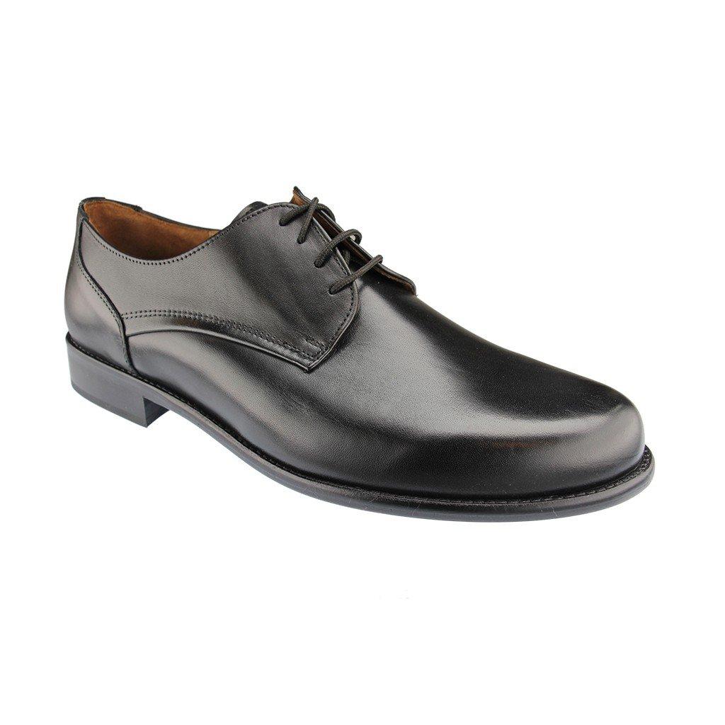 Manz Jan 162093-001 Business-Schuhe, Halbschuhe, Schnürschuhe, Voll-Lederausstattung, schwarz, Weite K (extraweit)