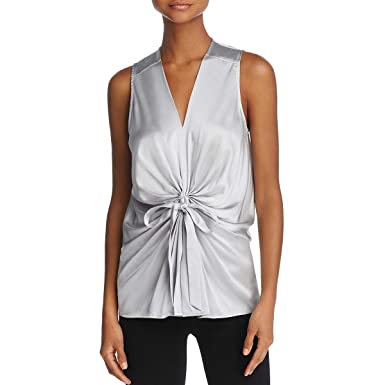 Amazon.com  Ramy Brook Womens Edel Silk Sleeveless Blouse Silver S ...
