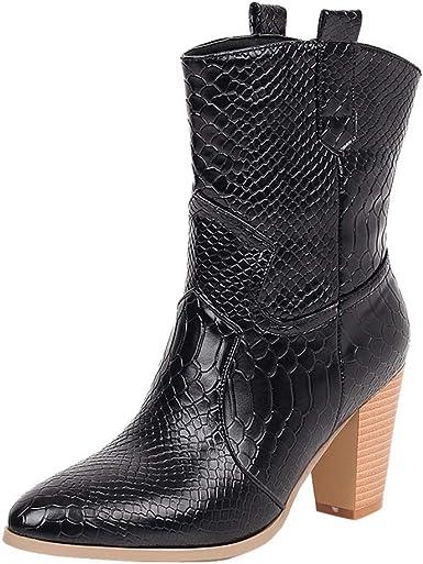 Women Western Mid-Calf Boots