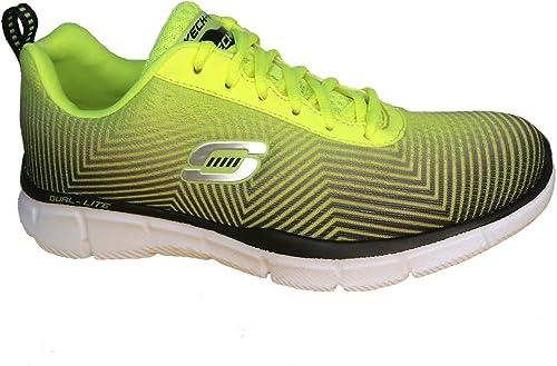 Skechers - Zapatillas de Running de Lona para Hombre Negro ...
