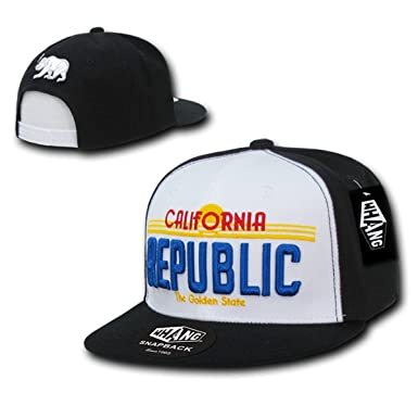 d4cf8689 WHANG Cali Plate Design California 3-D Embroidery Cap_Black_One Size ...