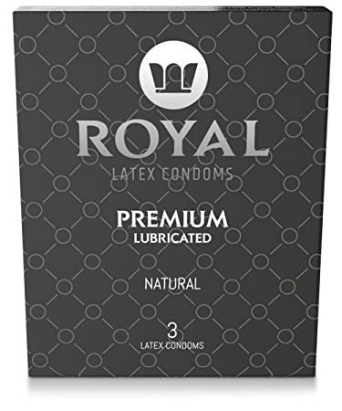 Royal Ultra Thin Condoms - Premium Lubricated, All Natural, Organic, Vegan,  High Quality Non-Toxic,