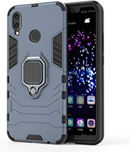 iron Man Case For Samsung Galaxy A9 2018, 2 in 1 Hybrid Heavy Duty Hard Back Case Cover with Ring Holder for Samsung Galaxy A9 2018, Black