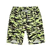 2018 Summer Plus Size Shorts Male Couple Beach Pants Casual Printing men'sbeach Pants Men's Custom,Green Camo,XL