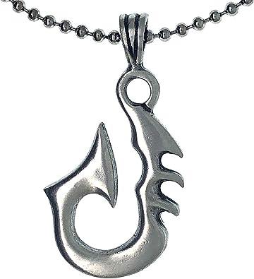 Maori Matau with silver necklace