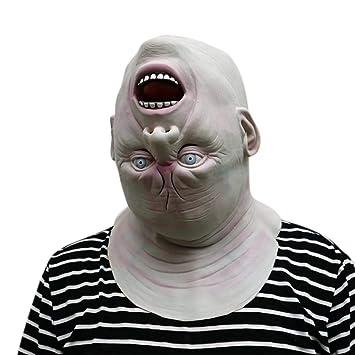2da019de9d699 XILALU Down Full Head Creepy Latex Head Mask, Lifelike Human Face Halloween  Scary Props Party Masquerade Cosplay Costume