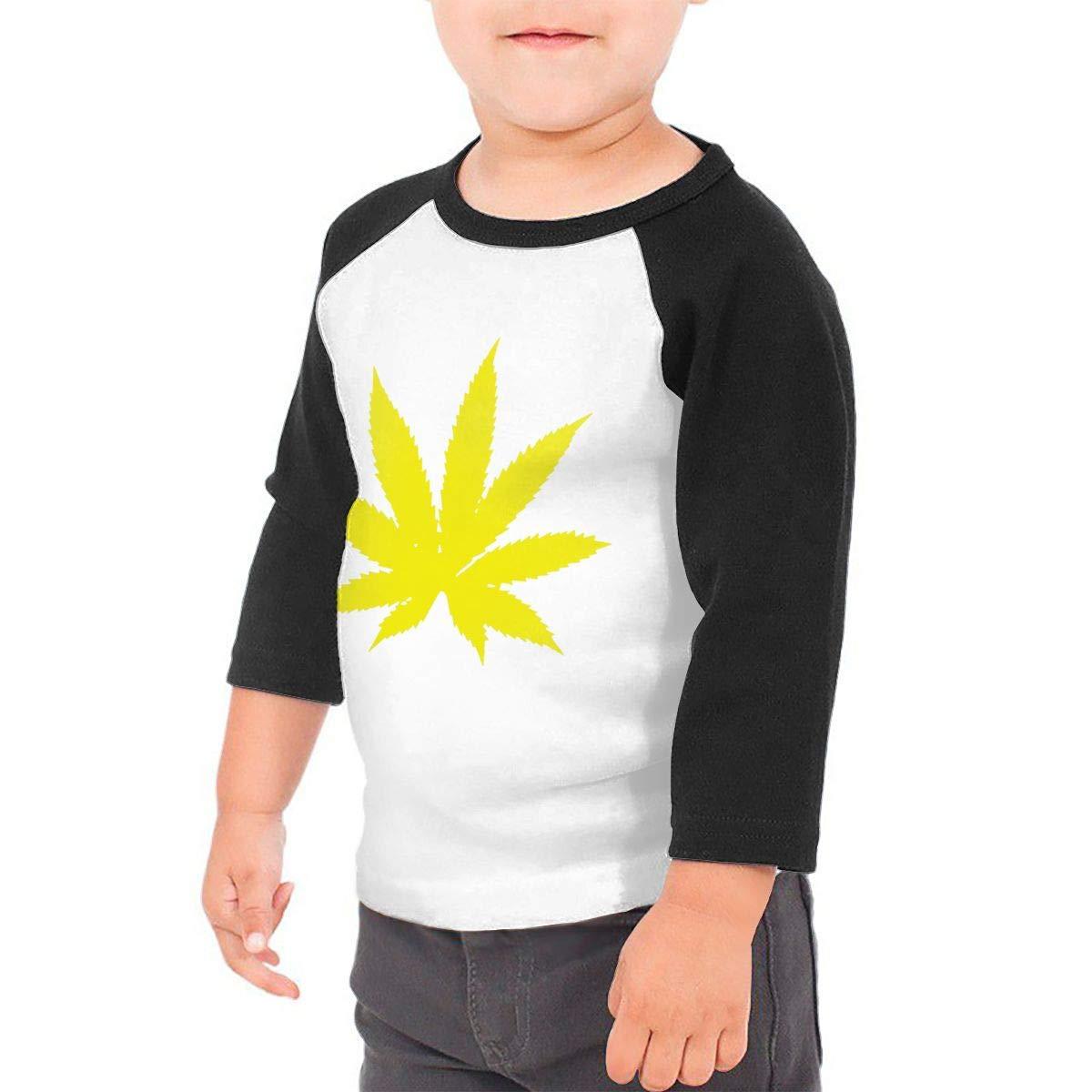 Weed Leaf Unisex Toddler Baseball Jersey Contrast 3//4 Sleeves Tee