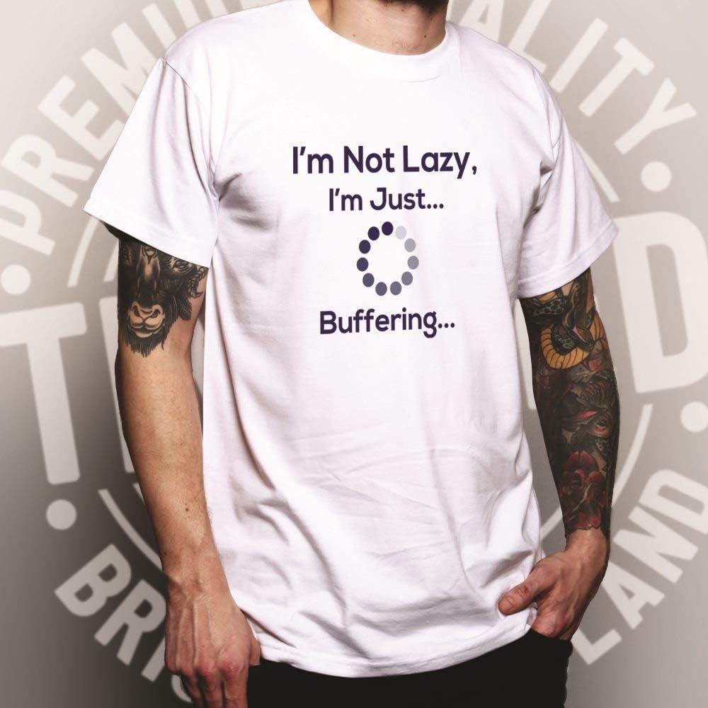 Novelty Slogan Sweatshirt I/'m Not Lazy Just Buffering Nerd Computer Joke Geek